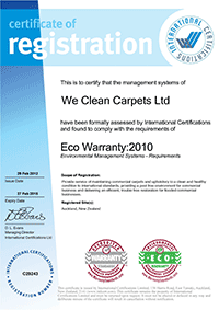 Eco Warranty Certificate